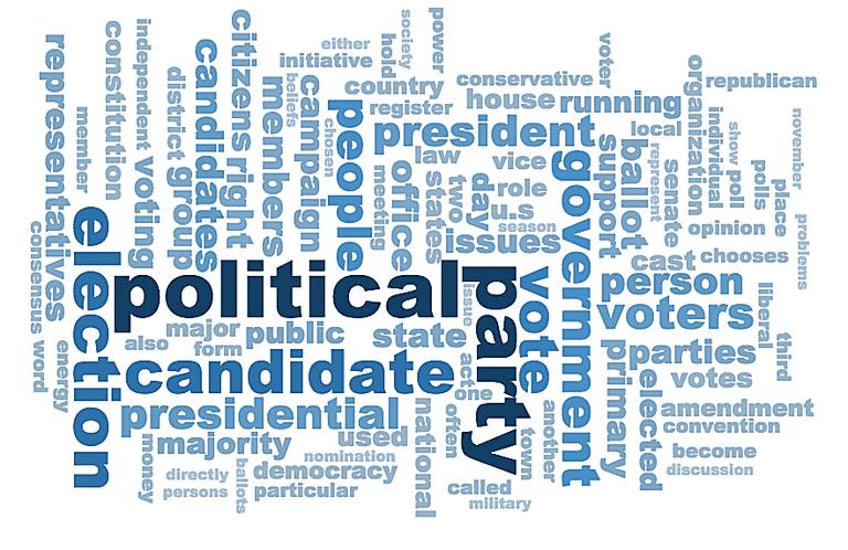 98 Election Vocabulary Terms Grades 9-12