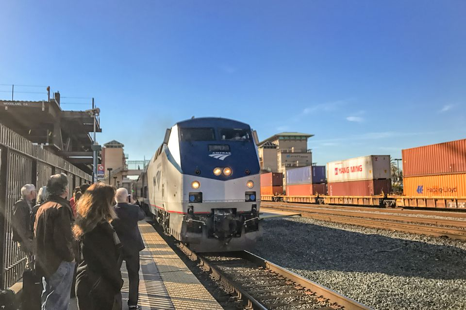 California Zephyr at the Emeryville Station