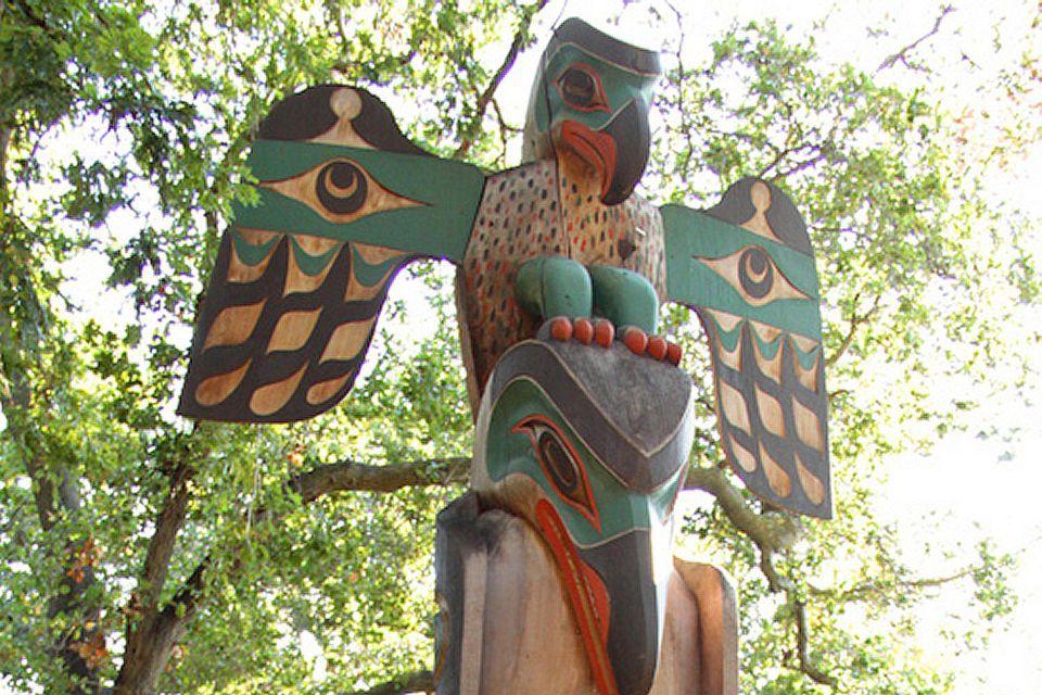Thunderbird on a Totem Pole