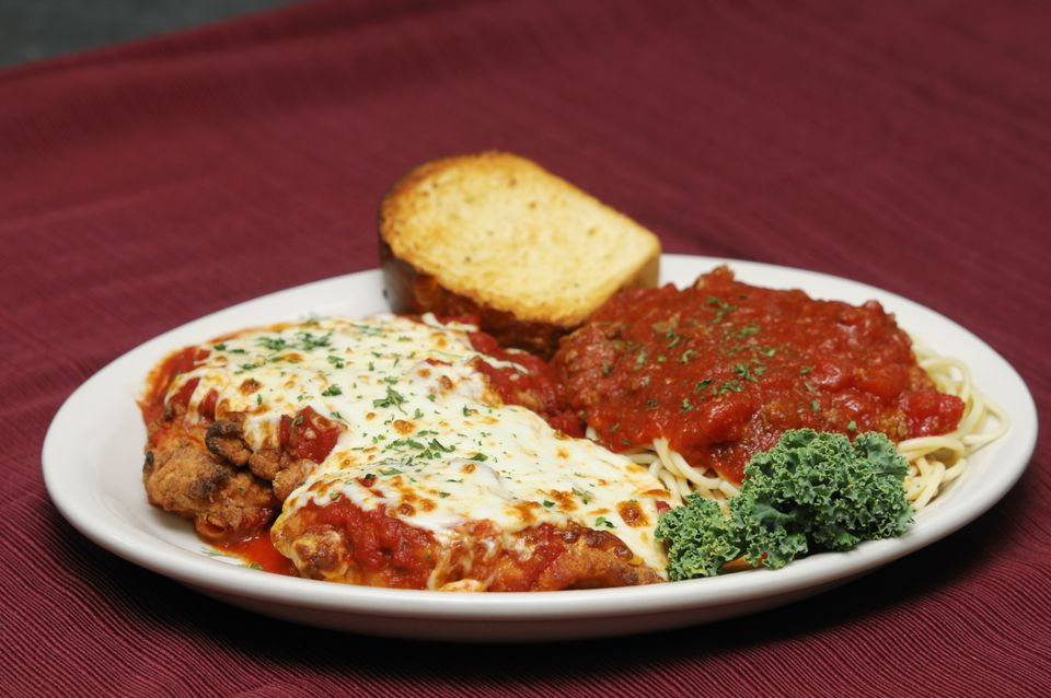 breaded steak or chicken parmesan