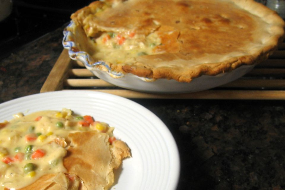 Tuna pot pie with vegetables recipe for Fish pot pie