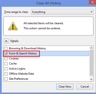 How to find your search history how to delete search history in firefox ccuart Choice Image