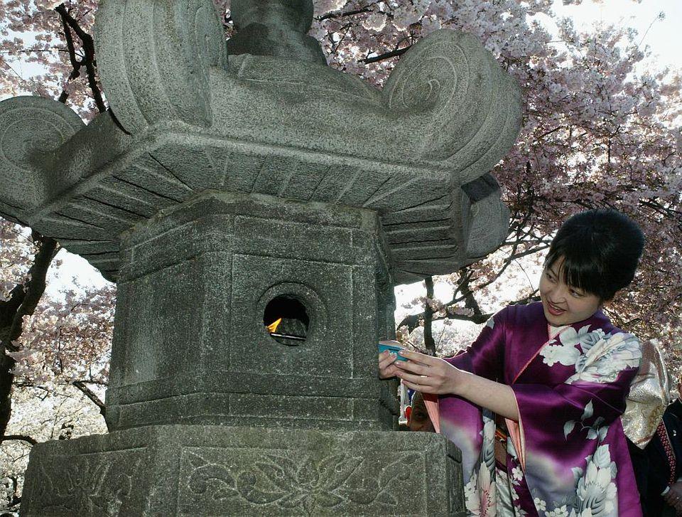 Japanese Stone Lantern Lighting Ceremony - Washington DC
