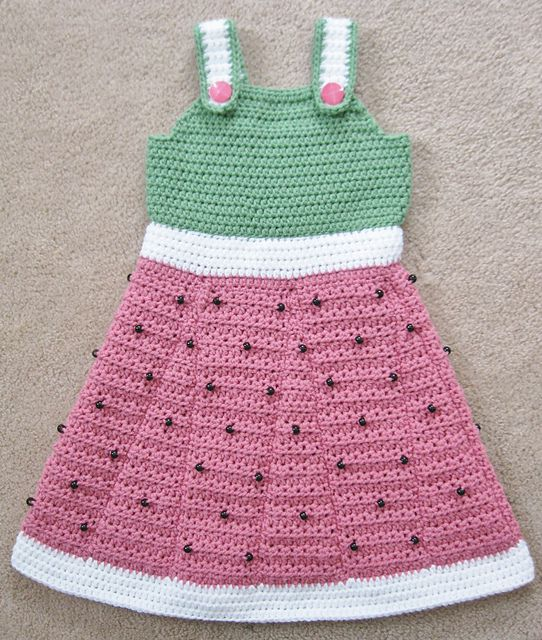 Little Watermelon Crochet Dress Pattern