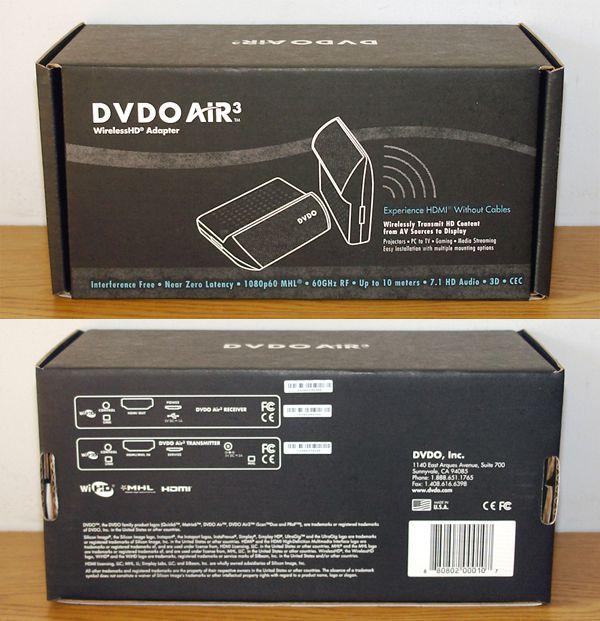 DVDO Air3 - Box - Front and Rear Views