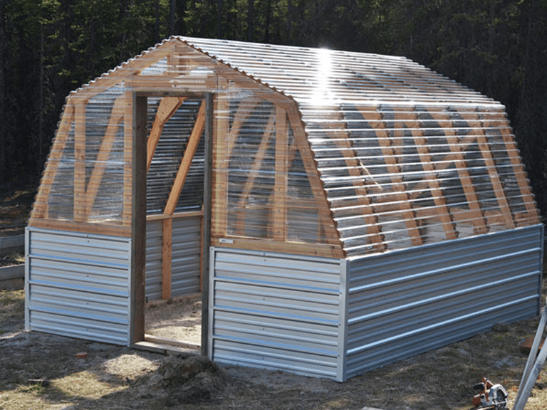 Picture of a barn greenhouse