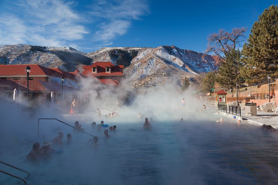 USA, Colorado, Glenwood Springs, Glenwood Hot Springs.
