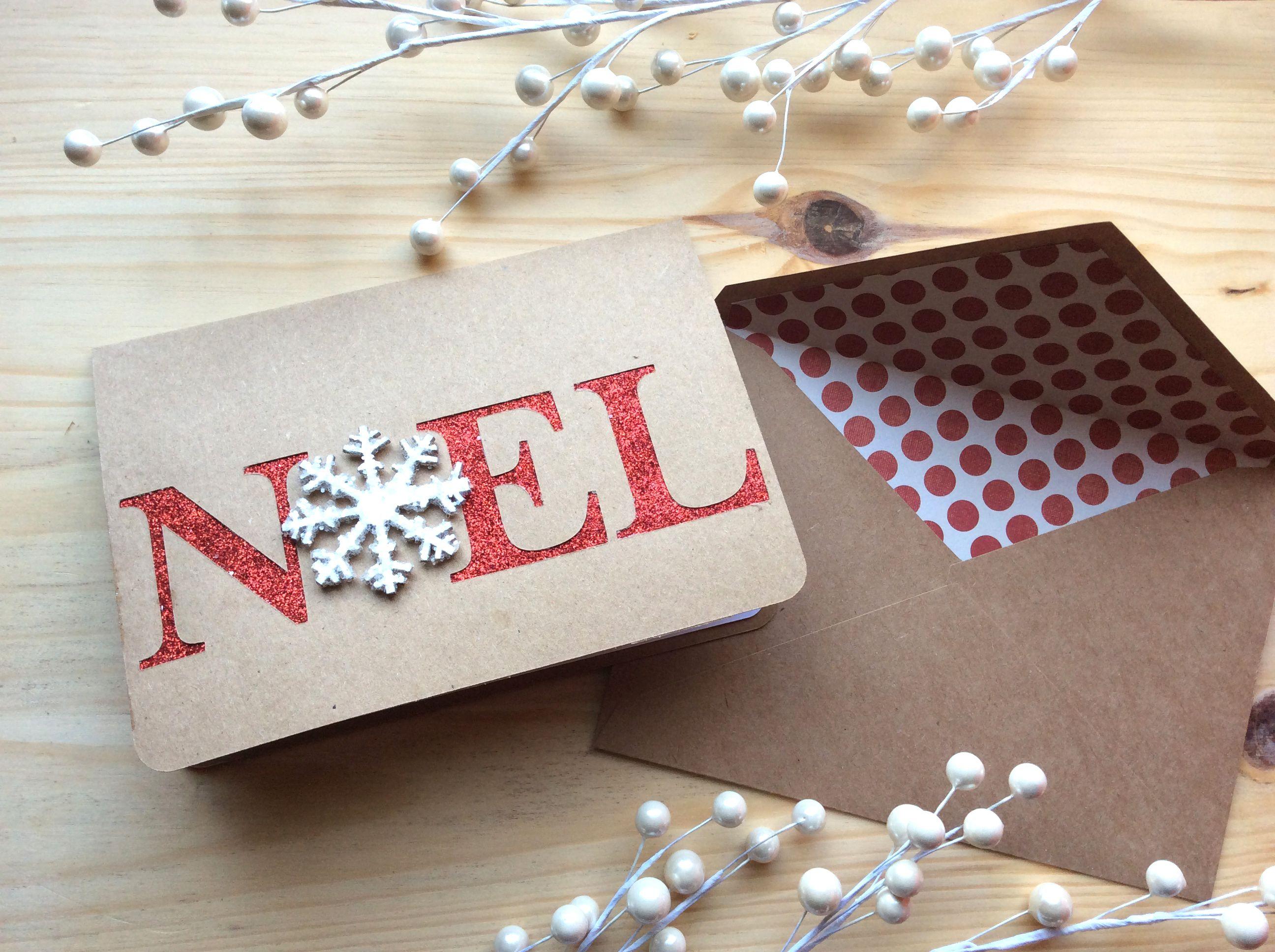 diy paper noel christmas card. Black Bedroom Furniture Sets. Home Design Ideas