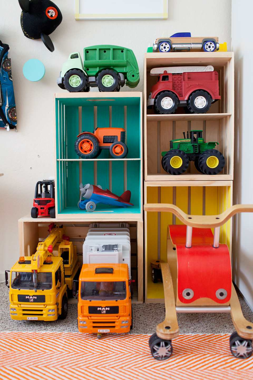 DIY Wood Toy Bins