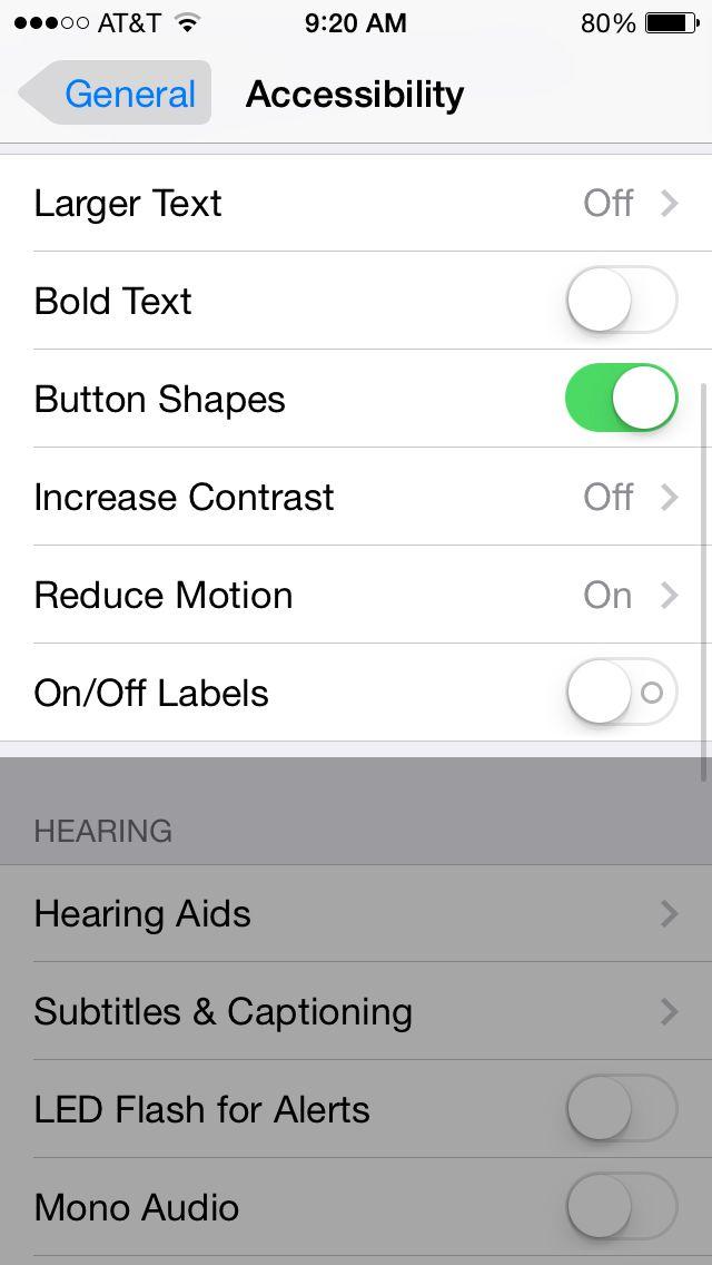 iOS 7 Bold text