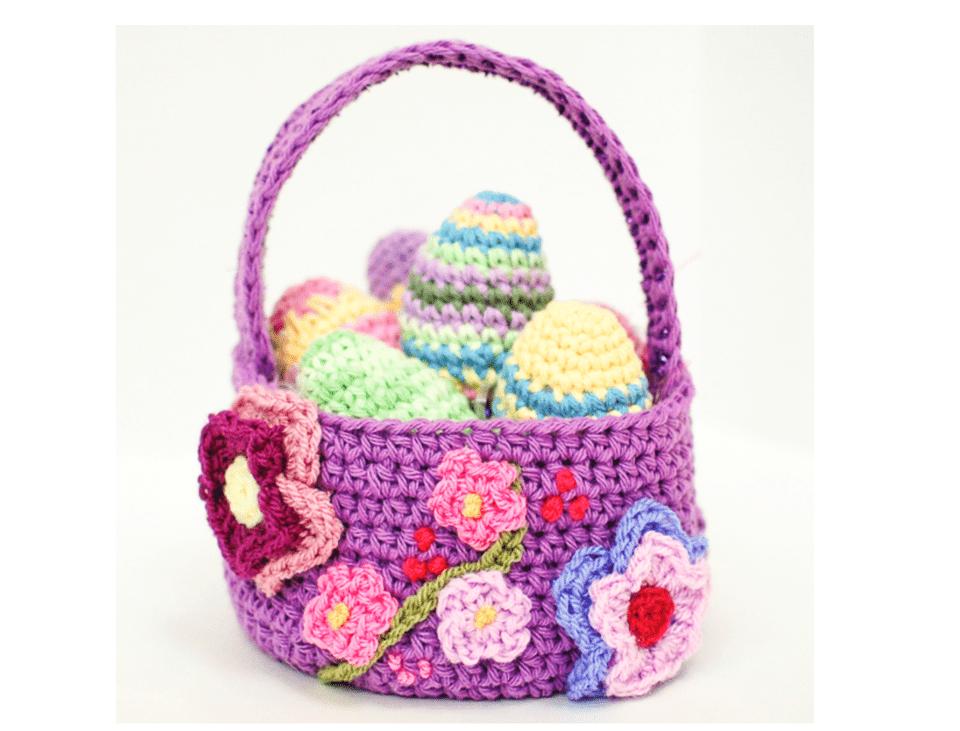 10 free crochet easter basket patterns easter basket patterng negle Choice Image