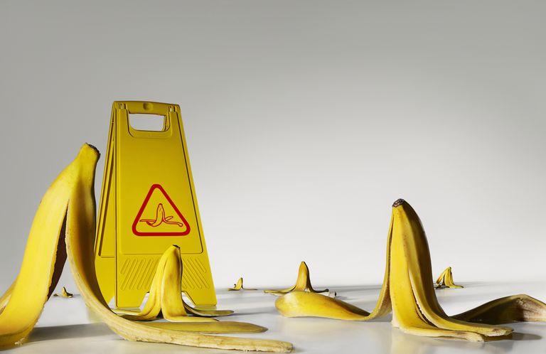 Danger: banana peels