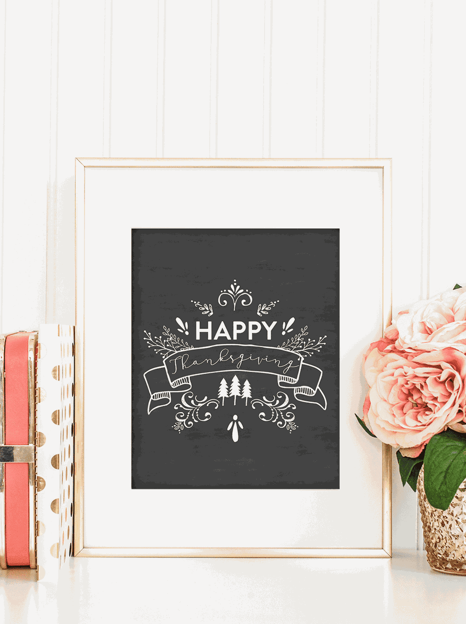 printable happy thanksgiving chalkboard art