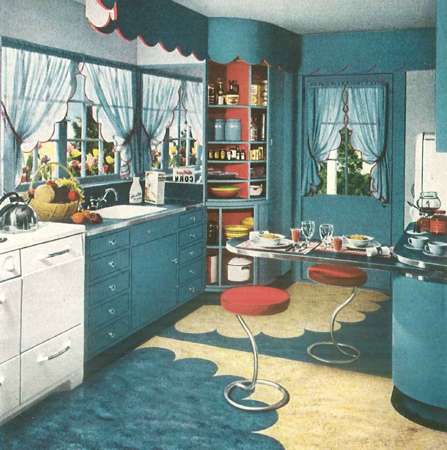 1940s home style kitchen decor for Home decor 50s