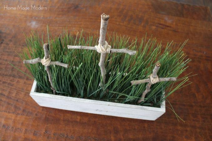 Three Cross Centerpiece Religious Easter