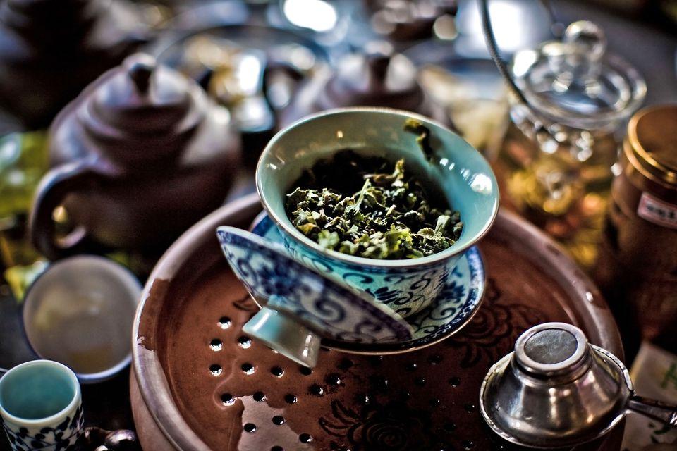 Close-up of the KungFu tea