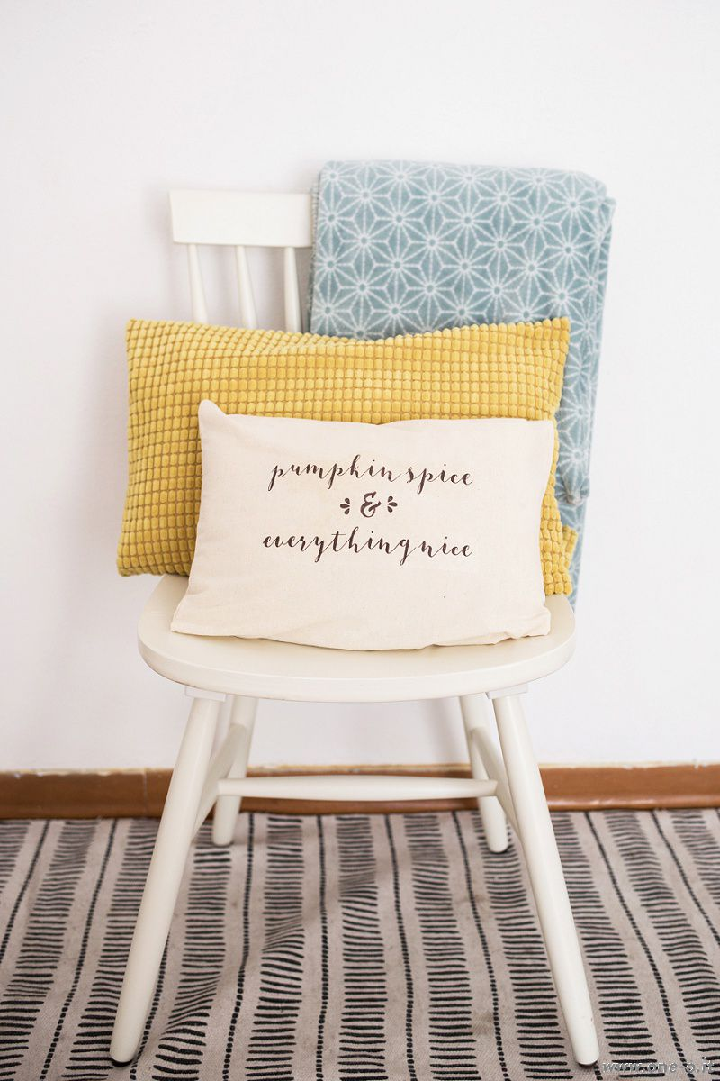 DIY Pumpkin Spice And Everything Nice Pillow