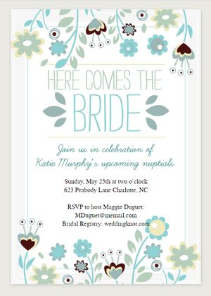 Bridal Shower Template Free Printable Bridal Shower Invitations