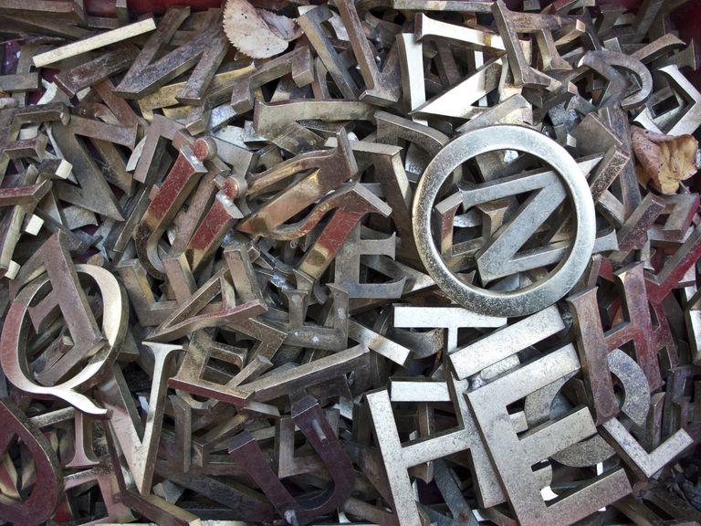 Typescript metal letters