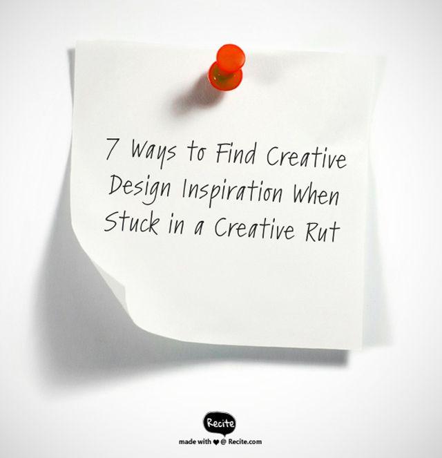 seven ideas for creative inspiration