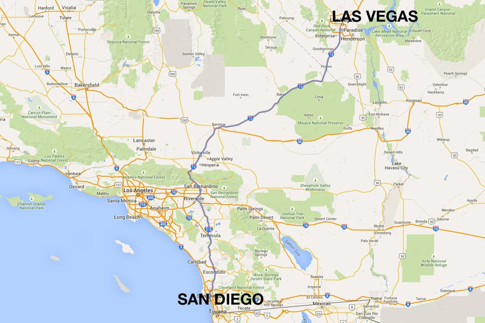 San Diego To Las Vegas Ways To Travel - Amtrak us map vacations scenic