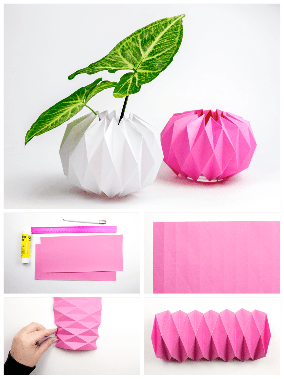 origami pot cover tutorial