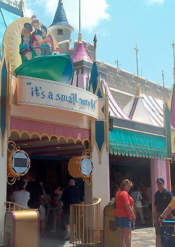 it's a small world picture photo Disney theme park ride