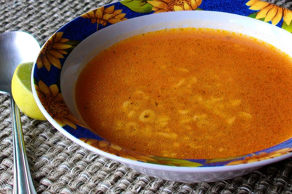 Mexican pasta soup