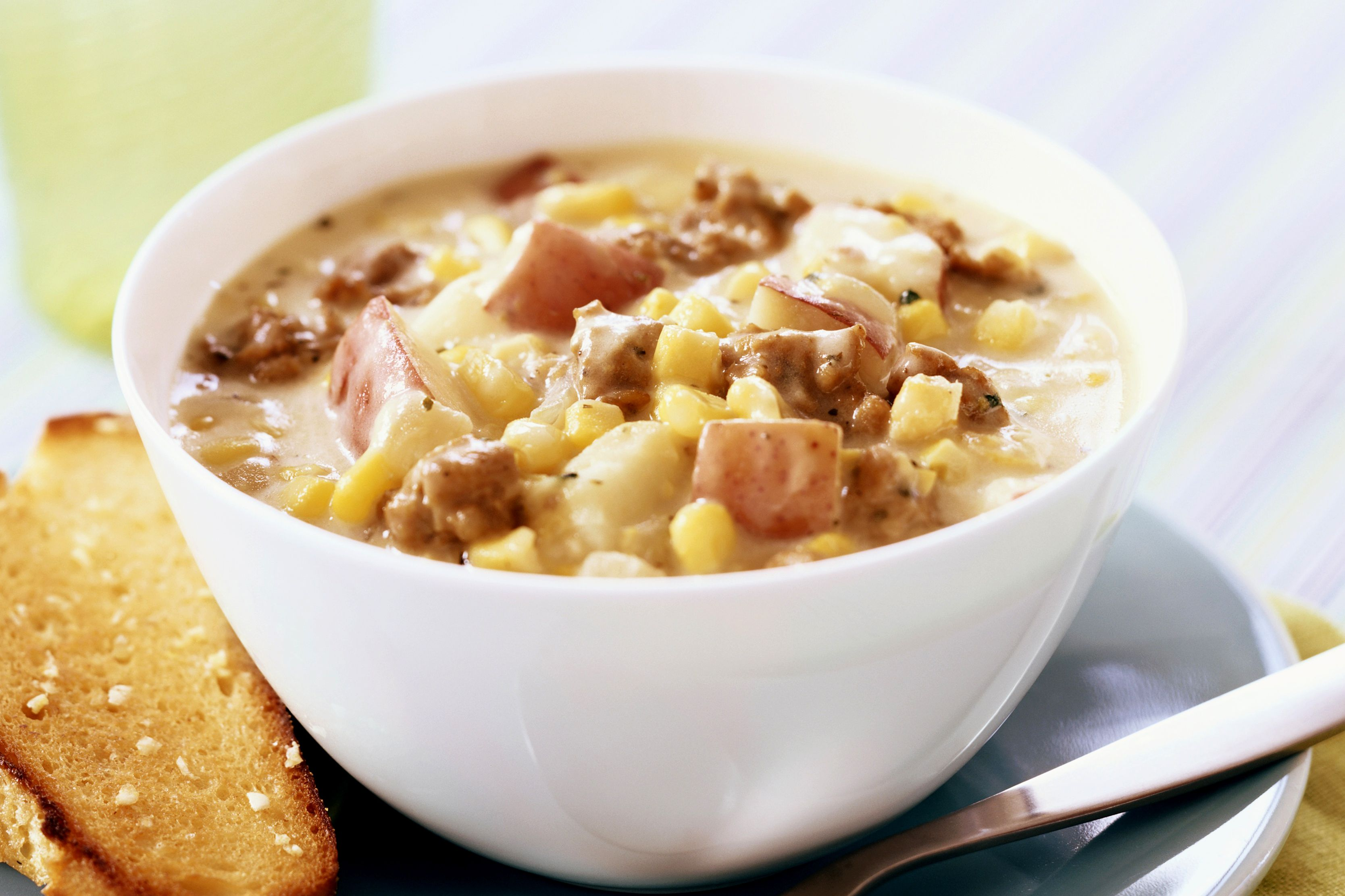 Crock pot corn and ground beef chowder recipe for Fish chowder crock pot