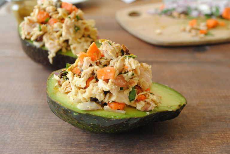 Curried Tuna Salad Avocado Boat