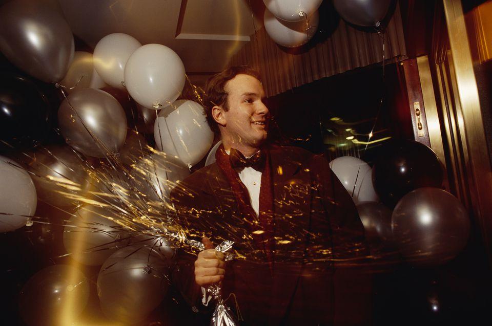 Man Attending New Year Celebration