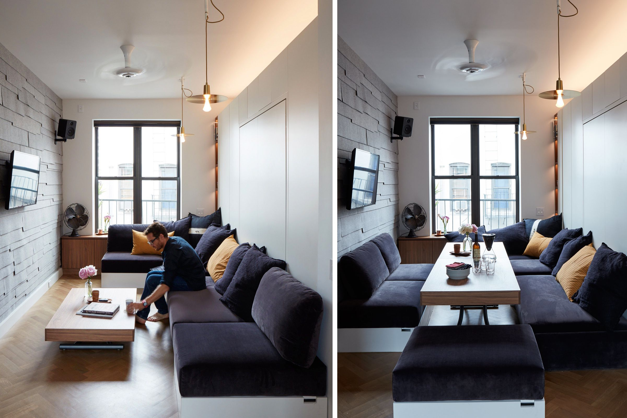 living room chairs for small spaces.  12 Perfect Studio Apartment Layouts That Work
