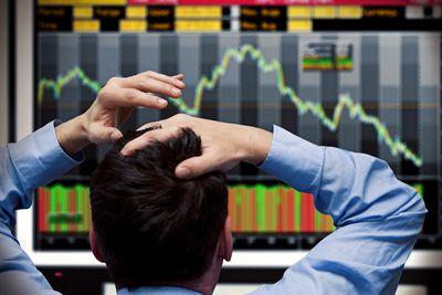 Image result for worried stock broker