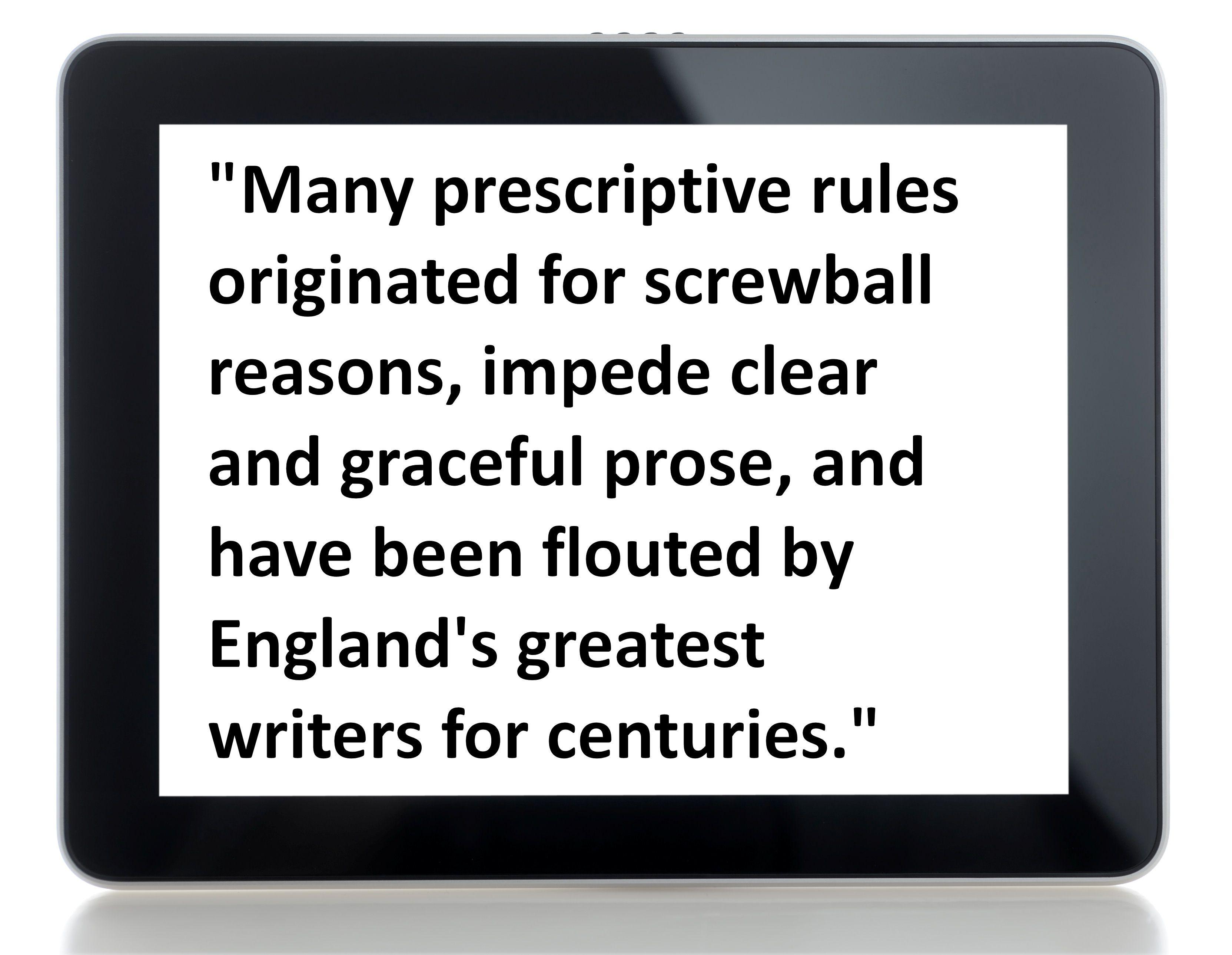 prescriptive grammar essay