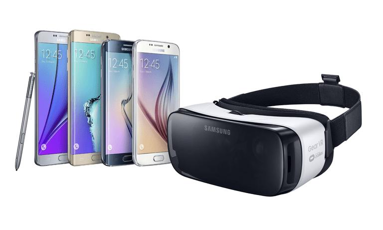 samsung gear vr and galaxy phones