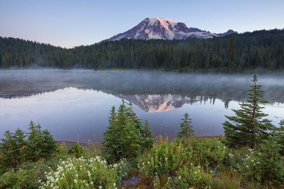 Reflection Lake in Rainier National Park