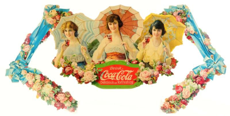Coca-Cola Umbrella Girls Festoon Dating to 1918