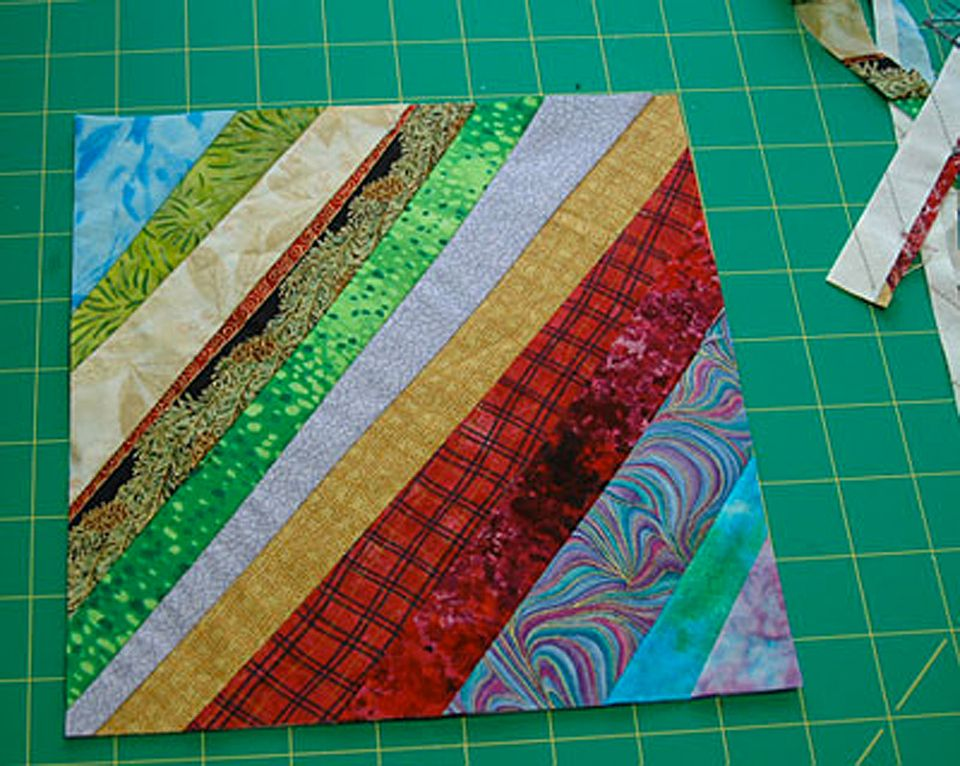 Learn How to Make String Quilts : string pieced rag quilt pattern - Adamdwight.com