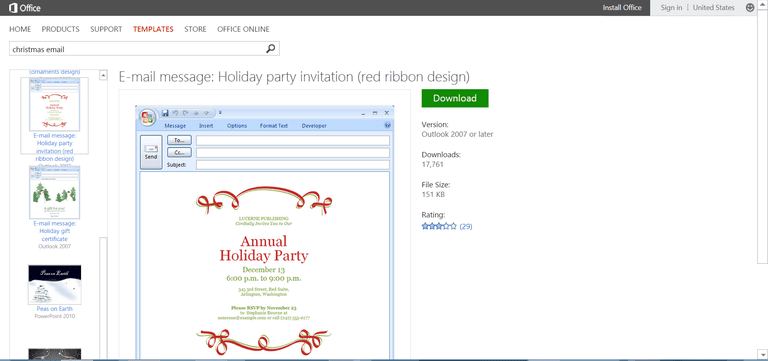 Microsofts Best Free DIY Christmas Templates - Annual holiday party invitation template