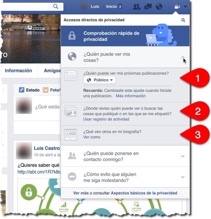 quien puede ver mis cosas en Facebook