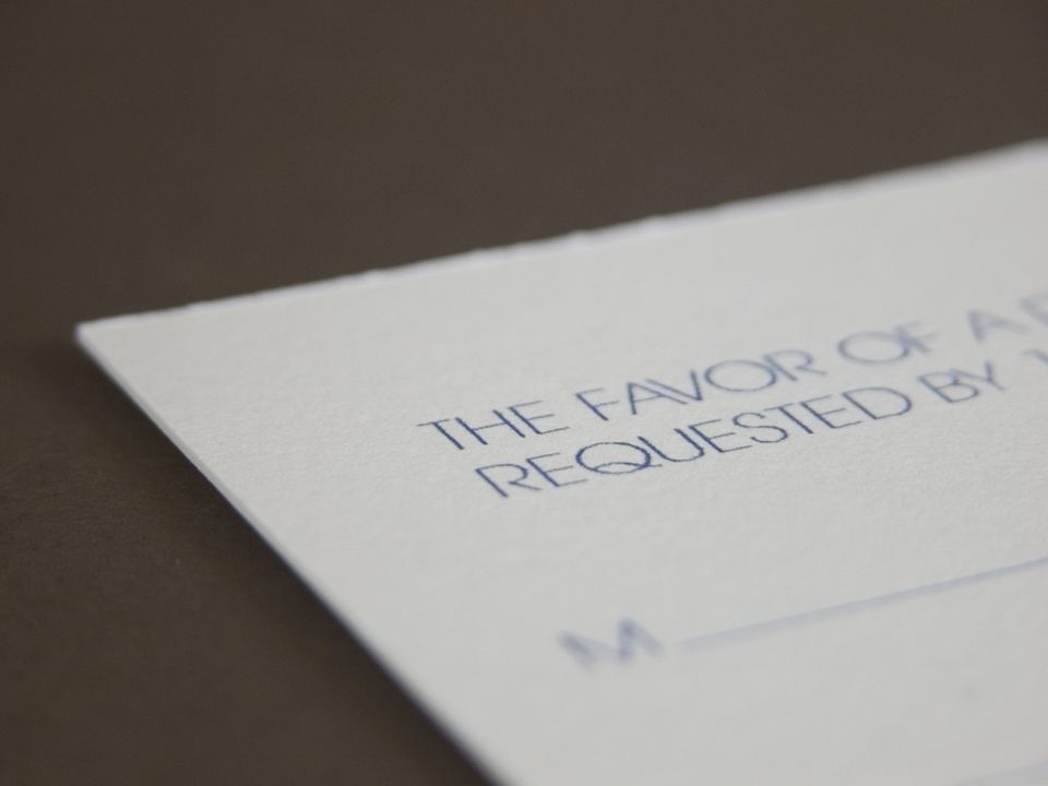 How to Address Return Labels on Wedding Response Cards