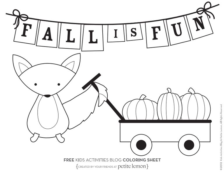 Kids Activities Blogs Fall Coloring Pages