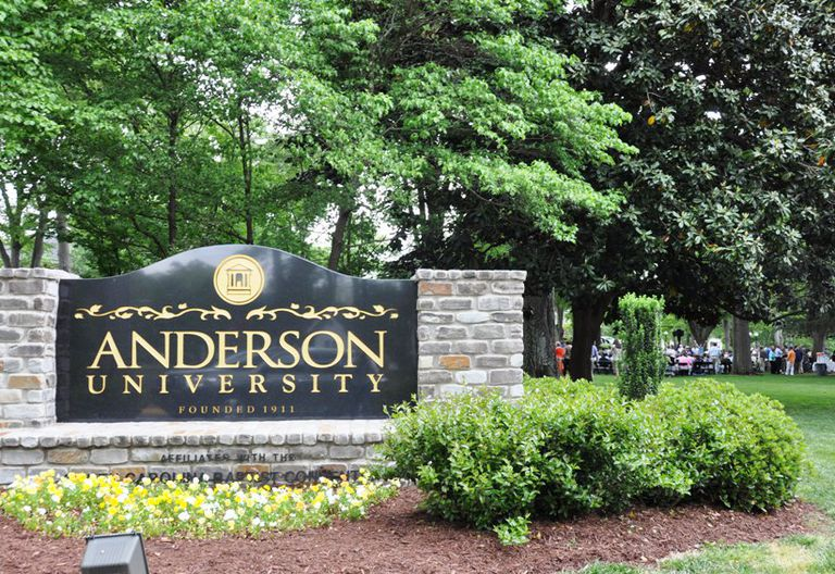 Anderson University in South Carolina