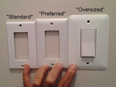 Oversized Switch Plate Covers Inspiration Replacing A Toggle Light Switch With A Rocker Switch Decorating Inspiration