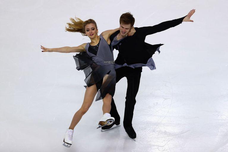 Ice dancers Victoria Sinitsina and Nikita Katsalapov of Russia