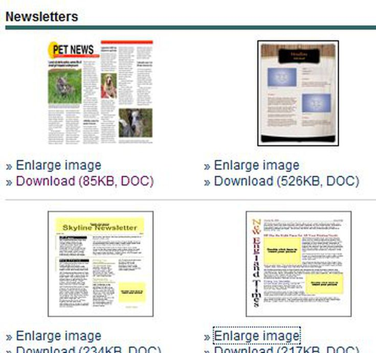 Newsletter Templates for Print and Web – Word Template Newsletter