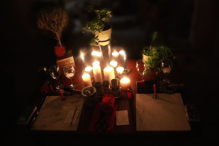 Candles on Altar