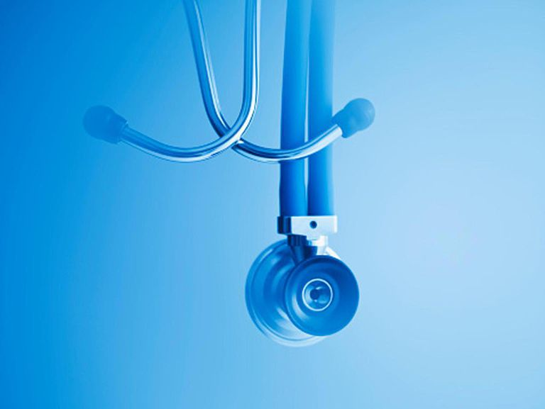 Close up of stethoscope