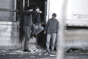 Teen Gang With Gun at Train Car