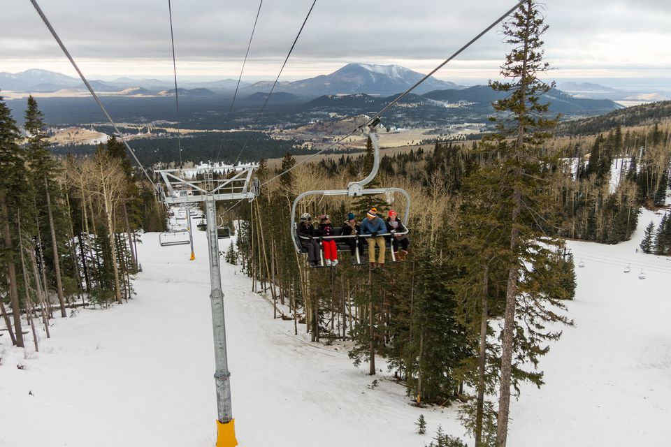 Arizona Snowbowl Grand Canyon Express Ski Lift Opening Celebration